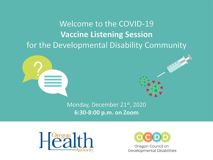 OHA_OCDD COVID-19 Vaccine Webinar Slides - English Cover